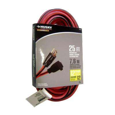 25 ft.12/3 Extension Cord in Red and Black