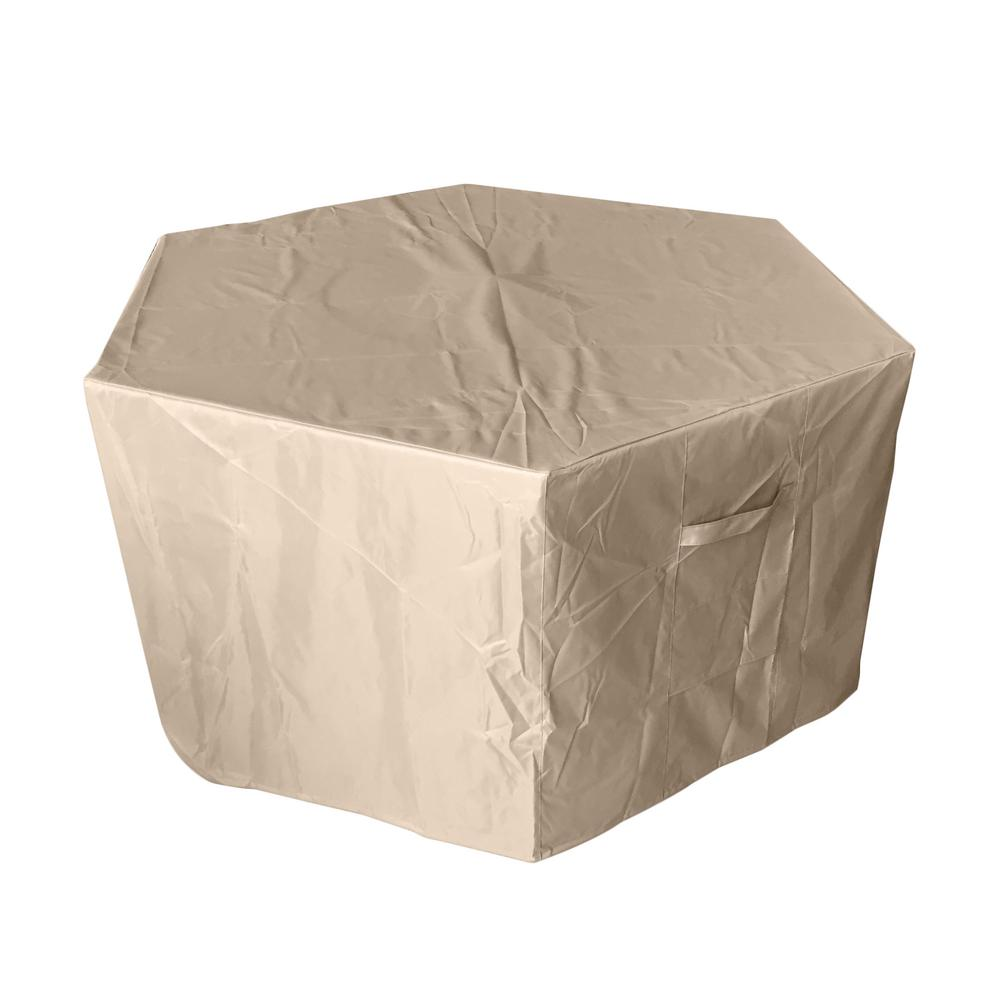 55 in. Hexagon Fire Pit Cover