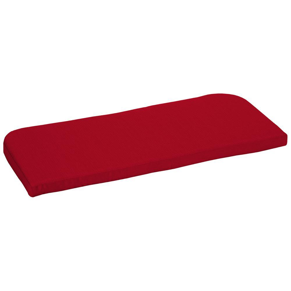 42 x 18 Sunbrella Spectrum Cherry Outdoor Bench Cushion