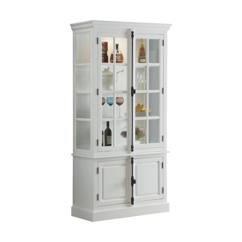 Iovius White Curio Cabinet