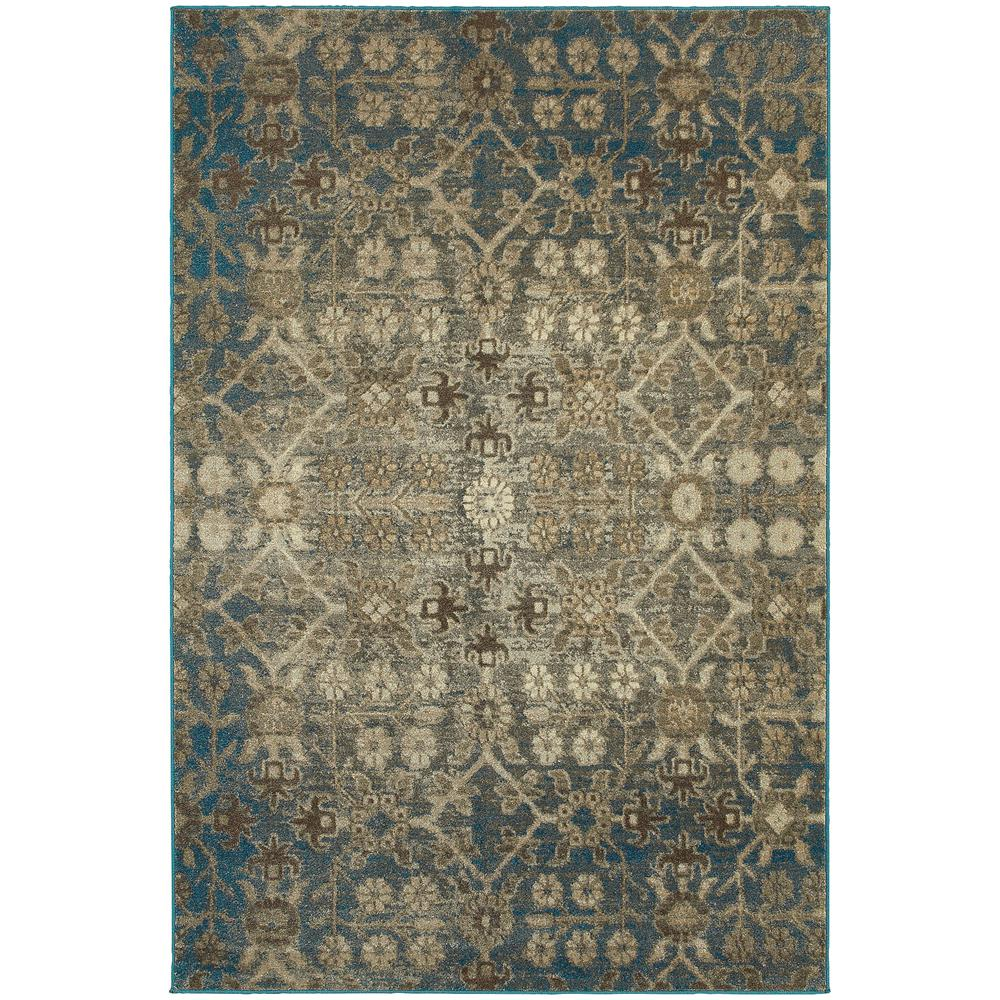 Home Decorators Collection Sherman Grey/Teal 4 Ft. X 5 Ft