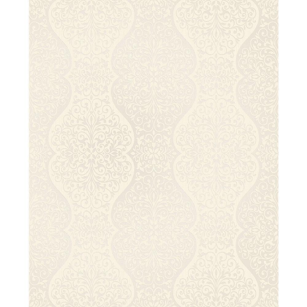 Brewster Cadence Beige Scroll Wallpaper 2683-23019