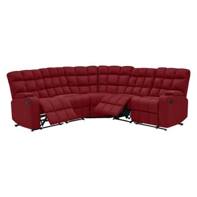 Crimson Red Sectionals Living Room Furniture The Home Depot