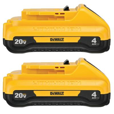 20-Volt MAX Compact Lithium-Ion 4.0Ah Battery Pack (2-Pack)