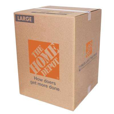18 in. L x 18 in. W x 24 in. D Large Moving Box 10 Pack