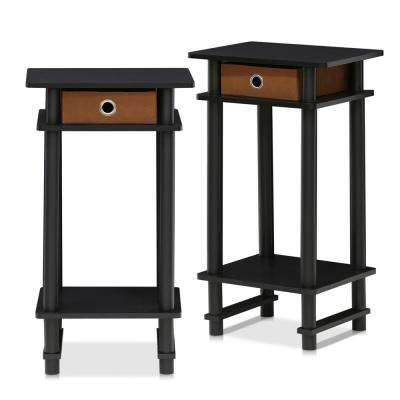 Furinno Drawers End Tables Accent Tables The Home Depot