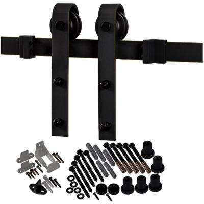 78-3/4 in. Oil Rubbed Bronze Bent Strap Barn Door Hardware Kit