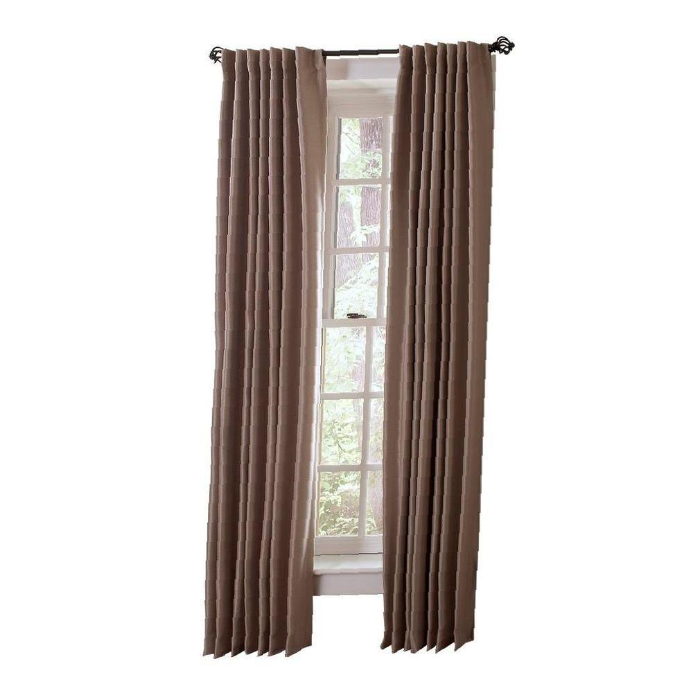Martha Stewart Living Brook Trout Faux Silk Room Darkening Back Tab Curtain