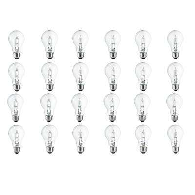 40-Watt Equivalent A19 Dimmable Clear Eco-Incandescent Light Bulb Soft White (24-Pack)