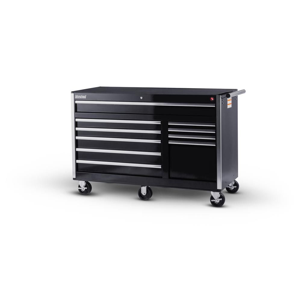 International 56 in. Tech Series 10-Drawer Cabinet, Black
