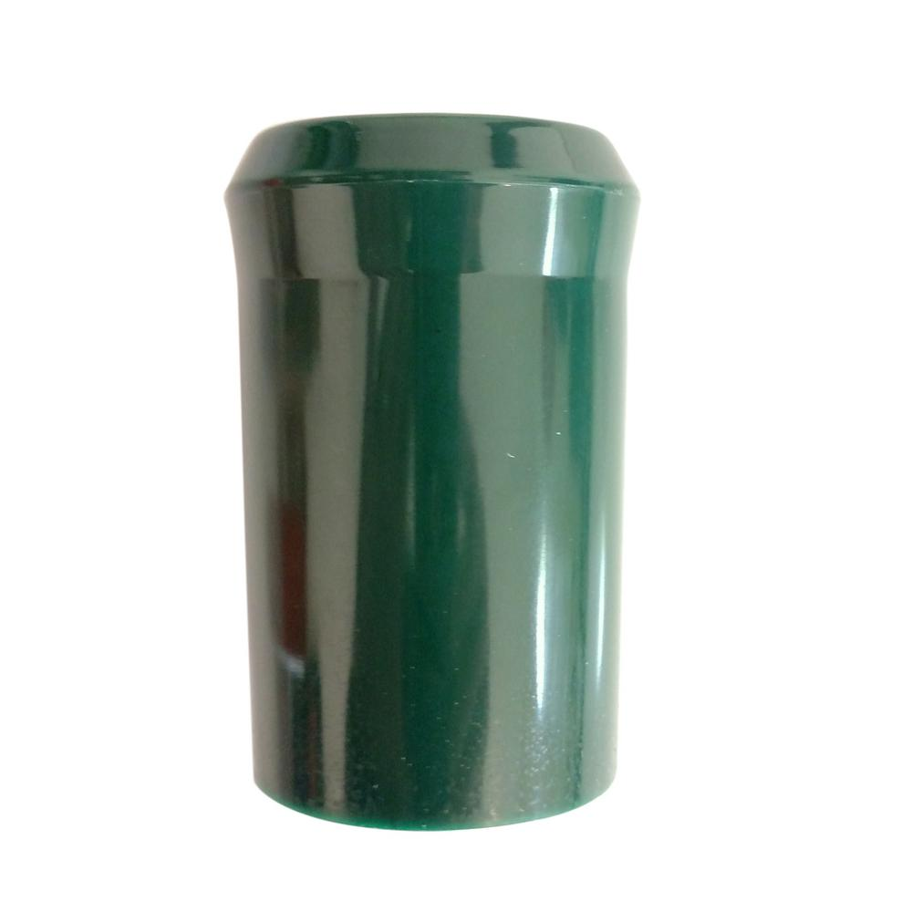 4 in. x 2 in. Green T- Post Safety High Density