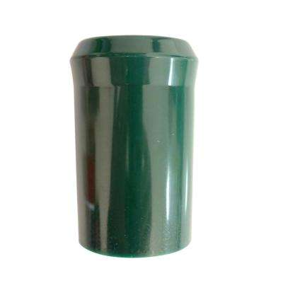 4 in. x 2 in. Green T- Post Safety High Density Polyethylene Cap Garden Fence (10-per Pack)