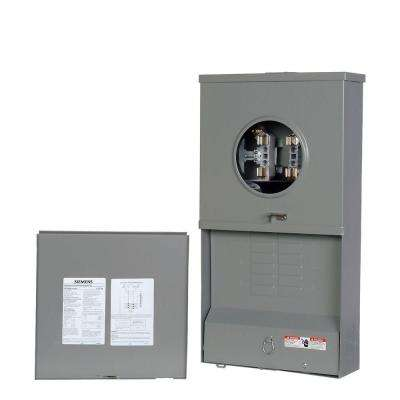 200 Amp 6-Space 6-Circuit Outdoor Meter Combo Load Center
