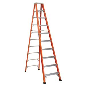 Louisville Ladder 10 ft. Fiberglass Step Ladder with 375 lbs. Load Capacity Type... by Louisville Ladder