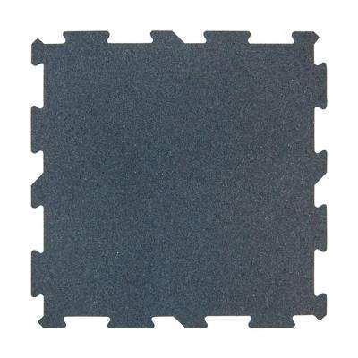 XR6 Gray 18 in. x 18 in. Rubber Activity Floor (12-Pack)