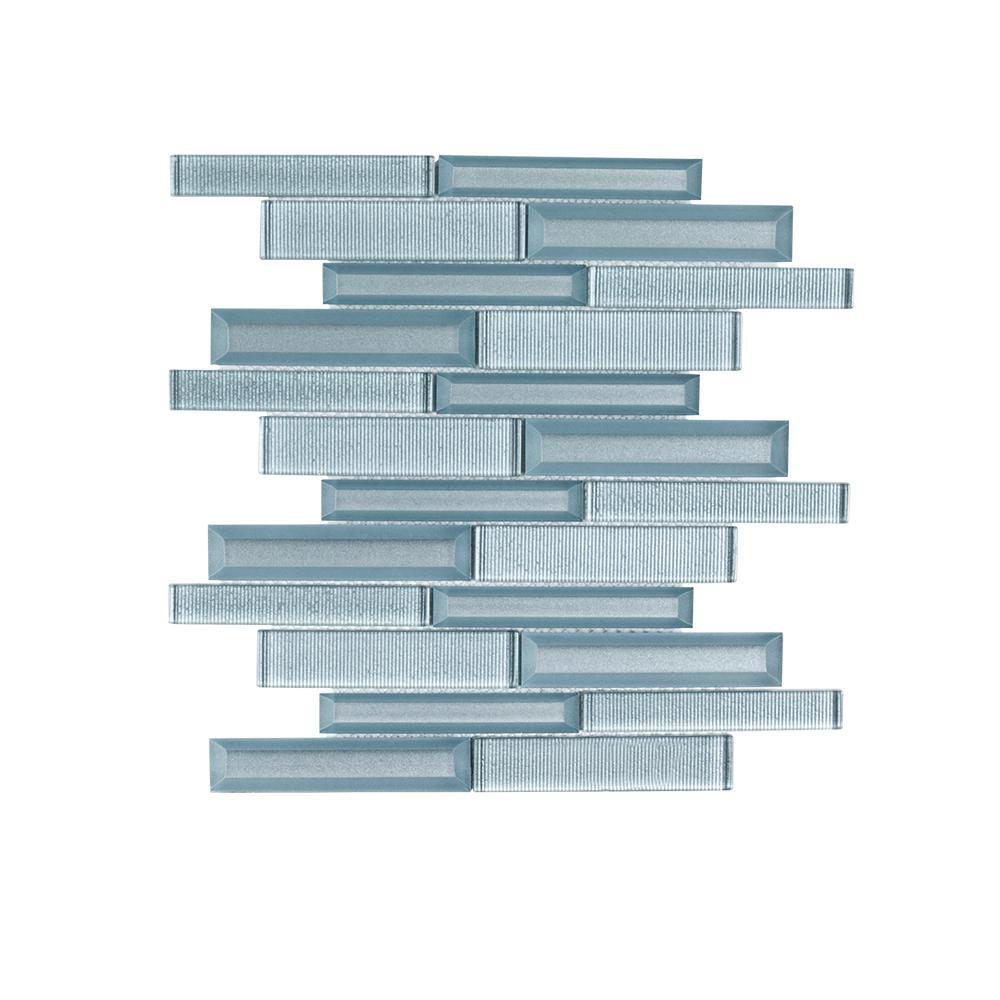 Lightbeam 10 in. x 11.875 in. x 8 mm Glass Mosaic Tile