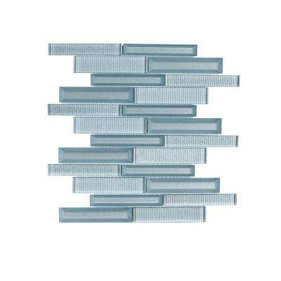 Lightbeam 10 in. x 11.875 in. x 8 mm Glass Mosaic Tile