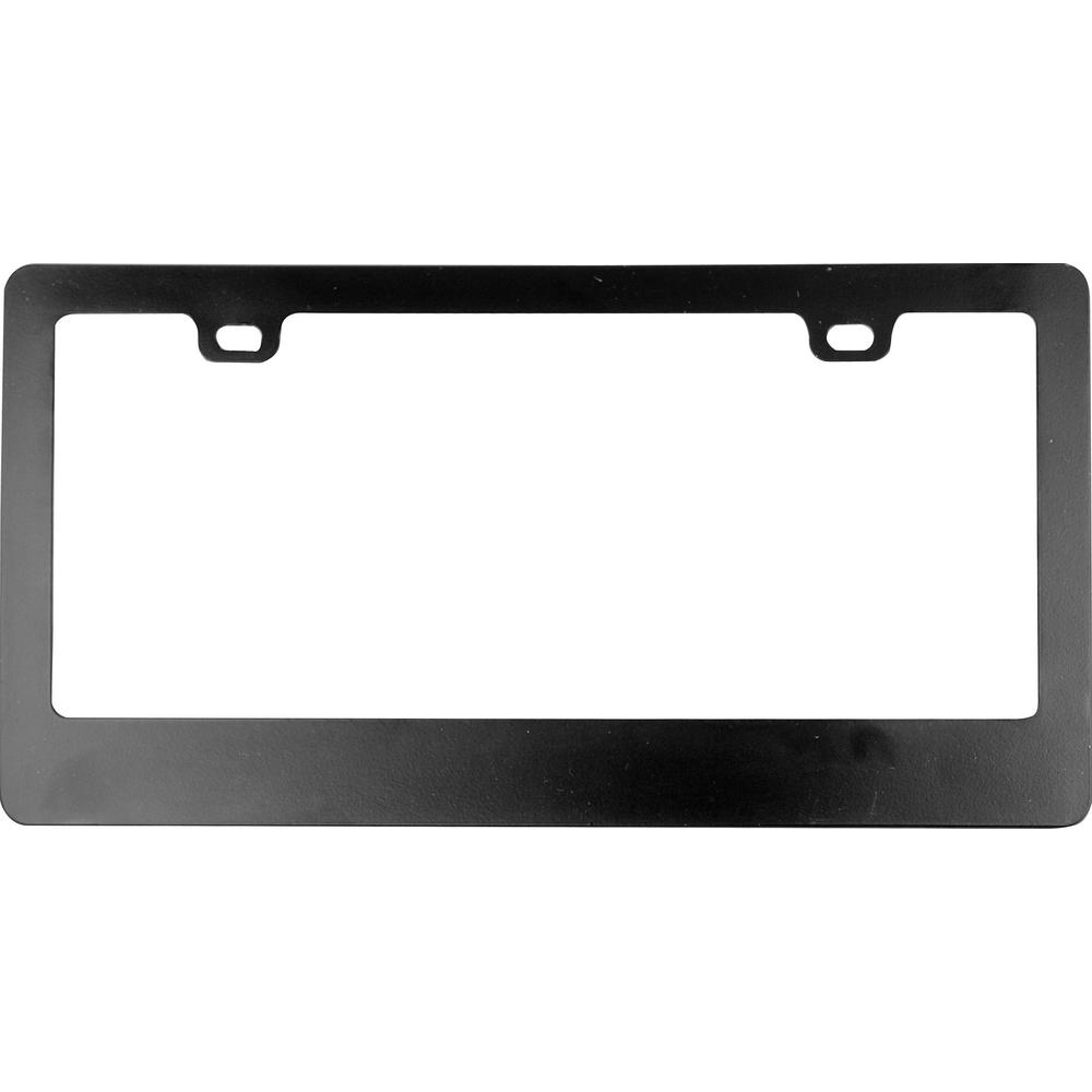 Custom Accessories Classic Black Metal License Plate Frame