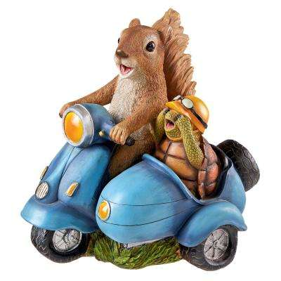 10.5 in. H Born to Be Wild Squirrel on Motorcycle Statue