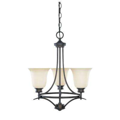 Montreal 3-Light Oil Rubbed Bronze Hanging Chandelier