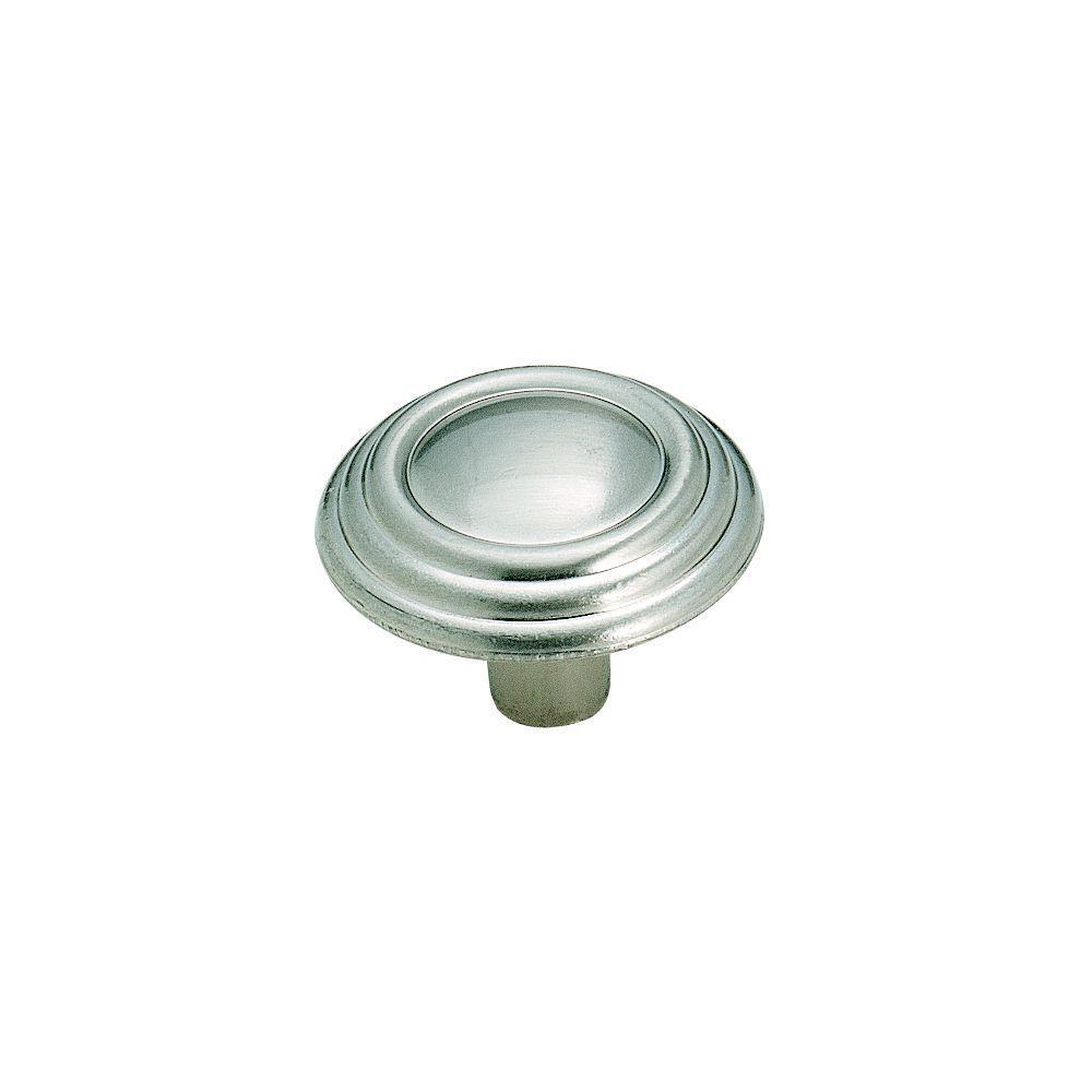 Amerock 1-1/4 in. Sterling Nickel Cabinet Knob