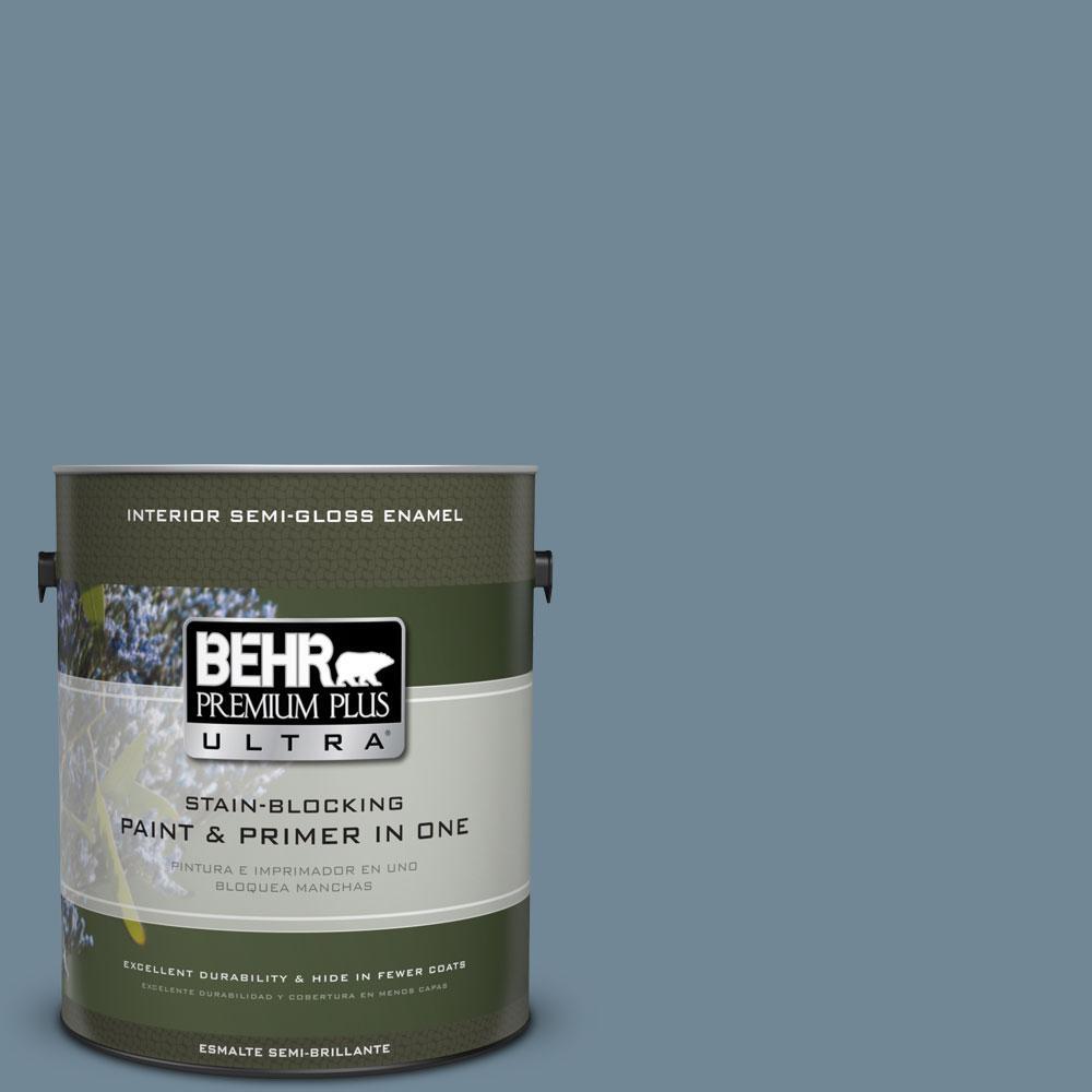 BEHR Premium Plus Ultra Home Decorators Collection 1-gal. #HDC-AC-24 Lyric Blue Semi-Gloss Enamel Interior Paint