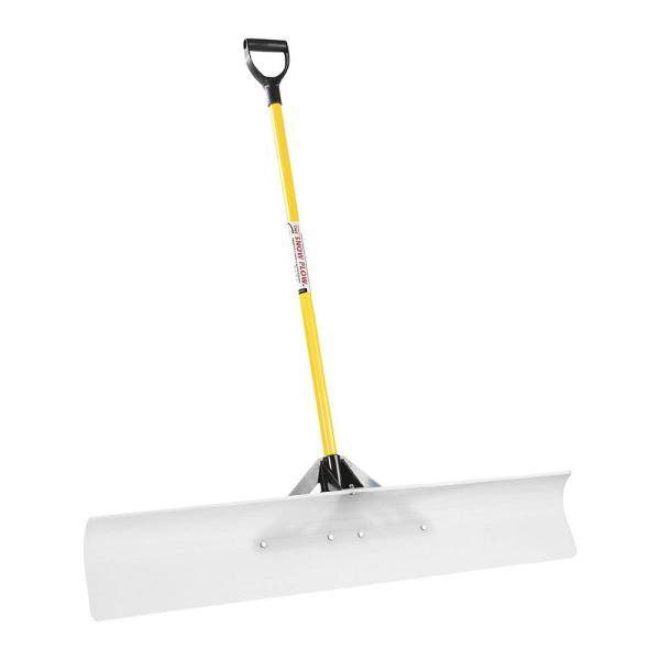 Original 48 in. Blade Snow Remover Plow Pusher Shovel with Handle