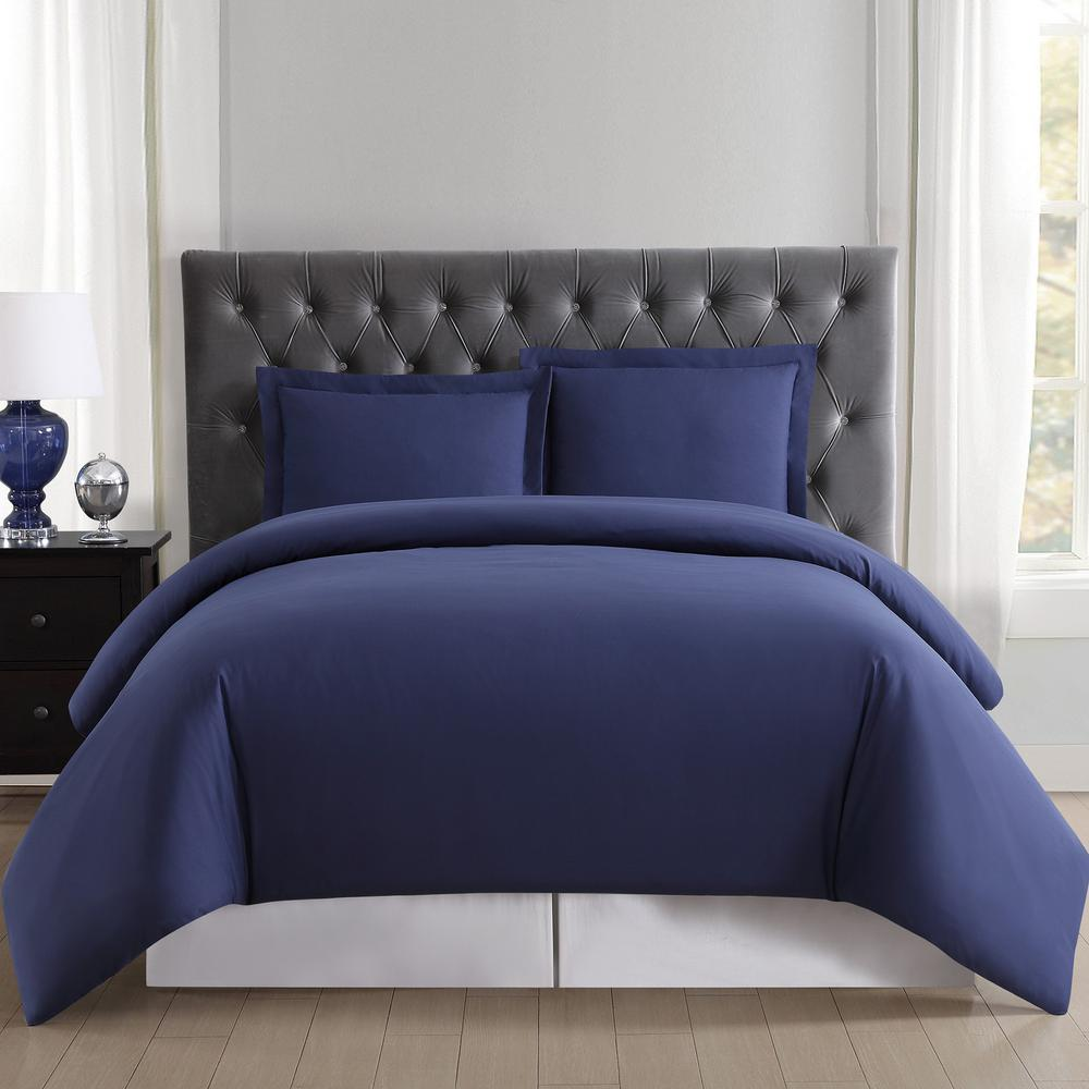Truly Soft Everyday 3 Piece Navy Full And Queen Duvet Set