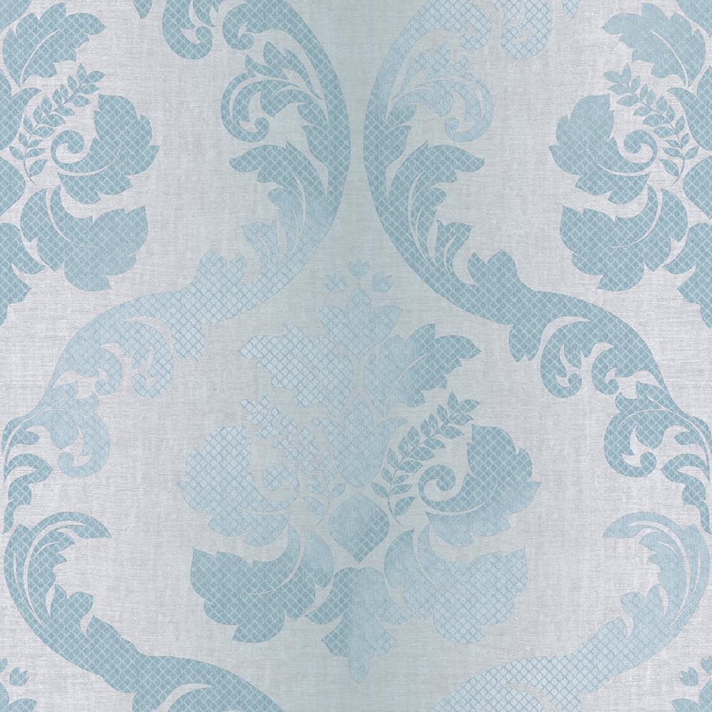 Chesapeake Delilah Ocean Tulip Damask Wallpaper VIR98223