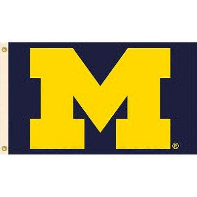 NCAA University of Michigan 3 ft. x 5 ft. Collegiate 2-Sided Flag with Grommets