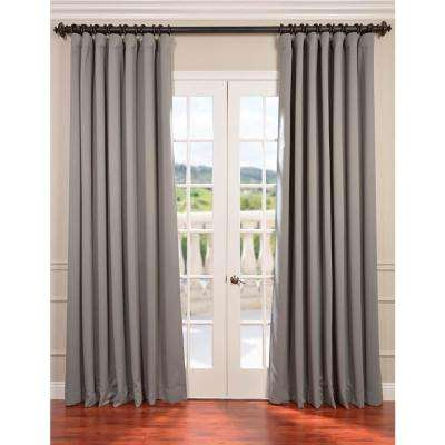 Semi-Opaque Neutral Grey Doublewide Blackout Curtain - 100 in. W x 96 in. L (1 Panel)