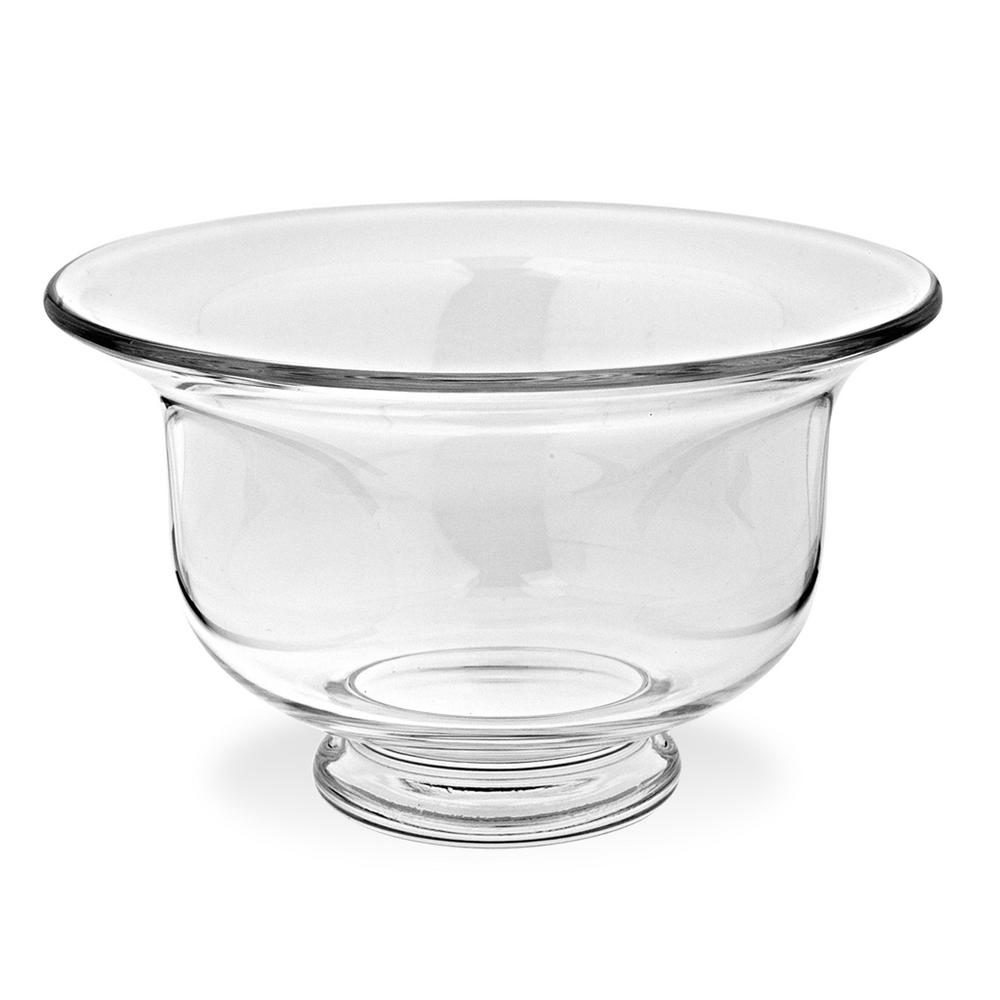 Ace Large 11 in. Clear European Mouth Blown Clear Revere Bowl