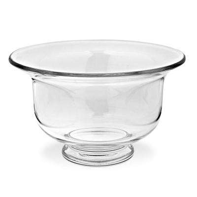 Ace Large 11 in. Clear European Mouth Blown Clear Revere Bowl or Punch Bowl