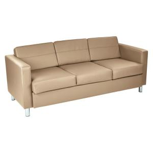 wholesale dealer 23835 eb003 OSP Home Furnishings Pacific Dillon Java Vinyl Sofa Couch ...
