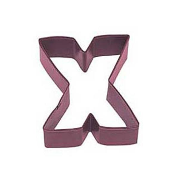 12-Piece Letter X Red Polyresin Cookie Cutter/Sugar Cookie Recipe