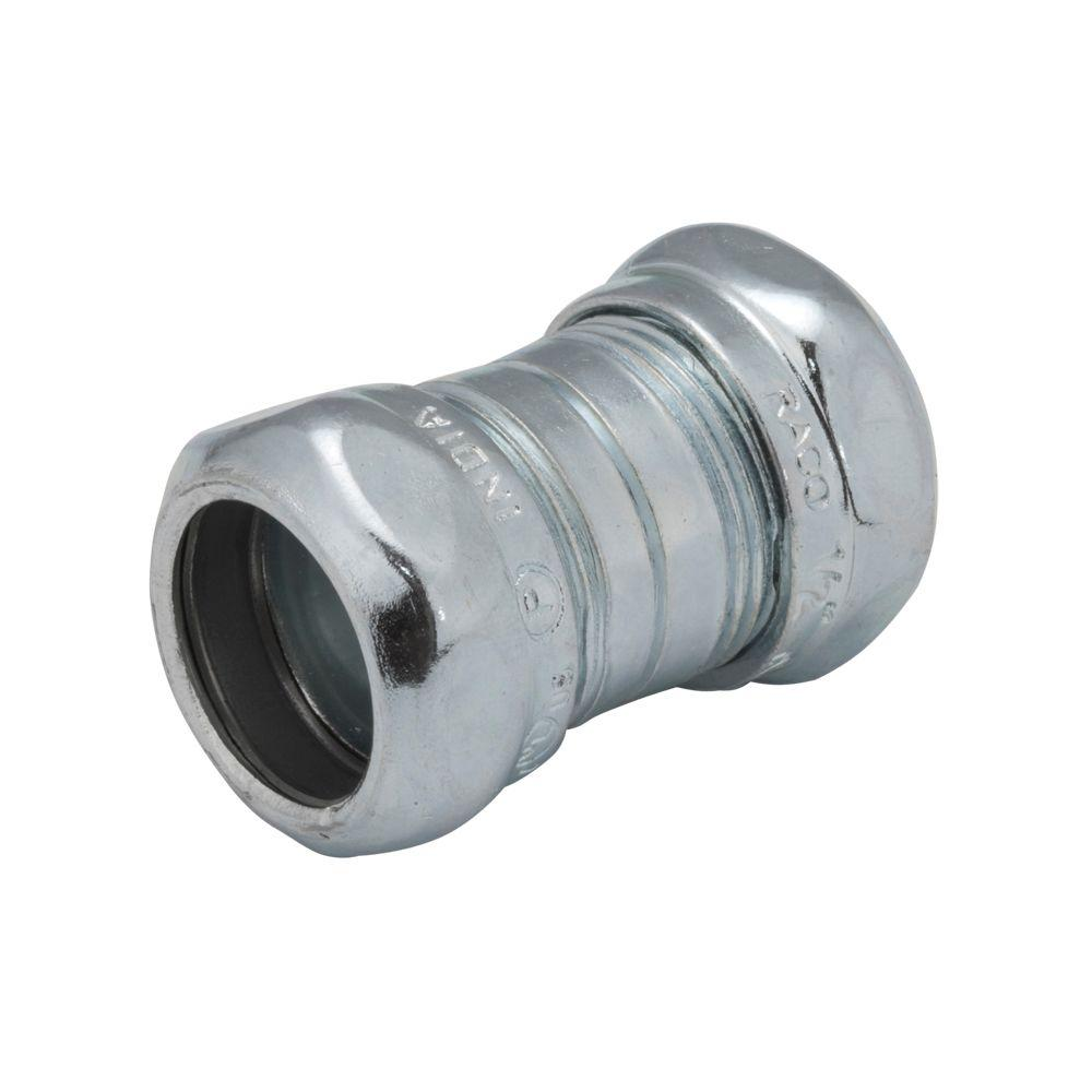Steel Coupler 3 : Raco in emt steel compression coupling the home