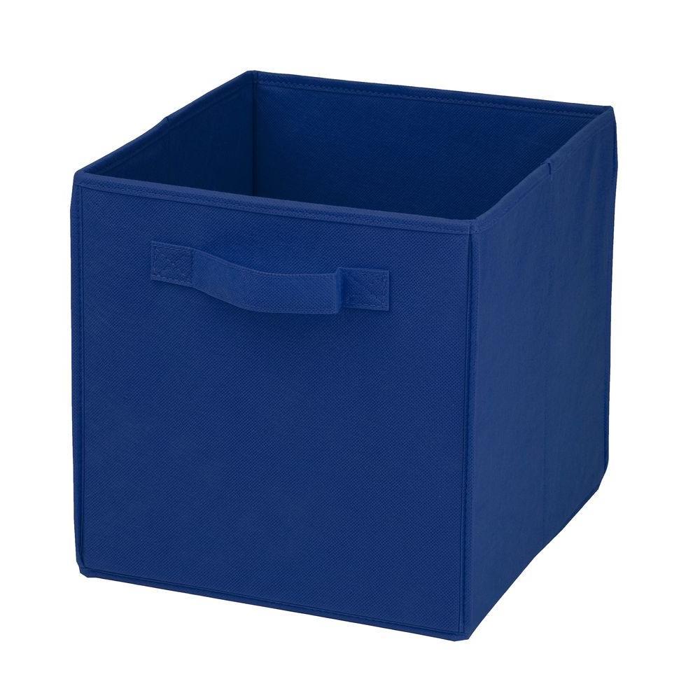 22 Qt. Non-Woven Foldable Cube Bin Blue (4-Pack)