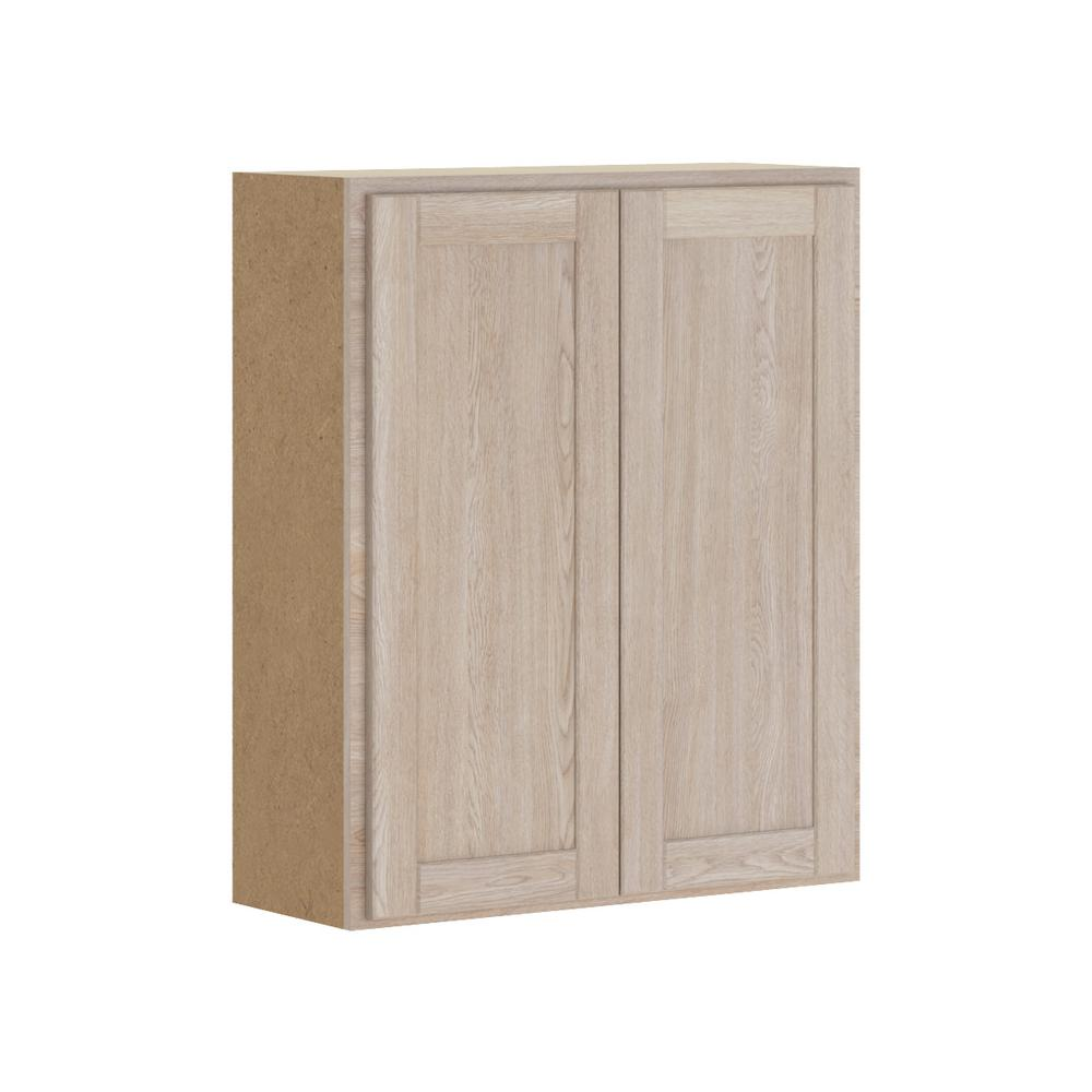Hampton Bay Stratford Assembled 30x36x12 In. Wall Cabinet