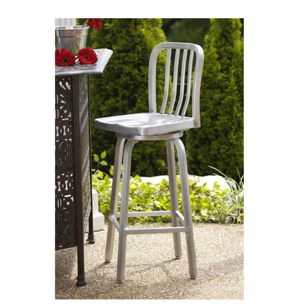Home Decorators Collection Sandra 30 In Brushed Aluminum Swivel Bar Stool 2478710440 The Home