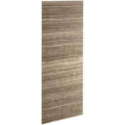 Choreograph 0.3125 in. x 32 in. x 96 in. 1-Piece Shower Wall Panel in VeinCut Sandbar for 96 in. Showers
