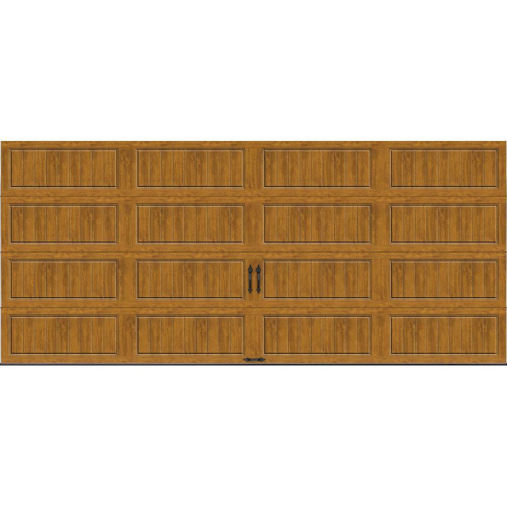 Clopay Gallery Collection 16 ft. x 7 ft. 18.4 R-Value Intellicore Insulated Solid Ultra-Grain Medium Garage Door