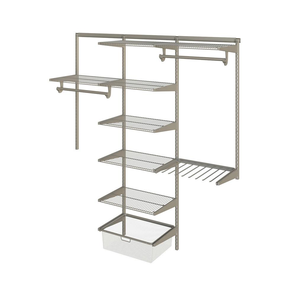 Closet Culture 16 in. x 72 in. W x 78 in. H Wire Closet System with ...