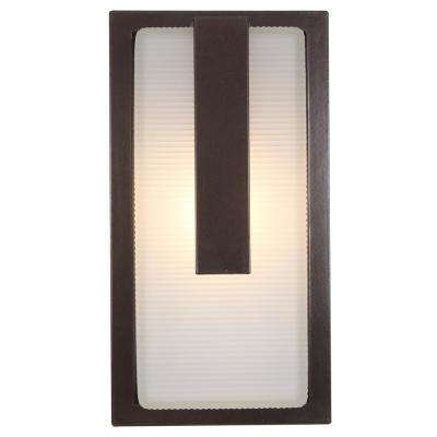 Neptune 7 in. 1-Light Bronze Outdoor Wall Mount Sconce