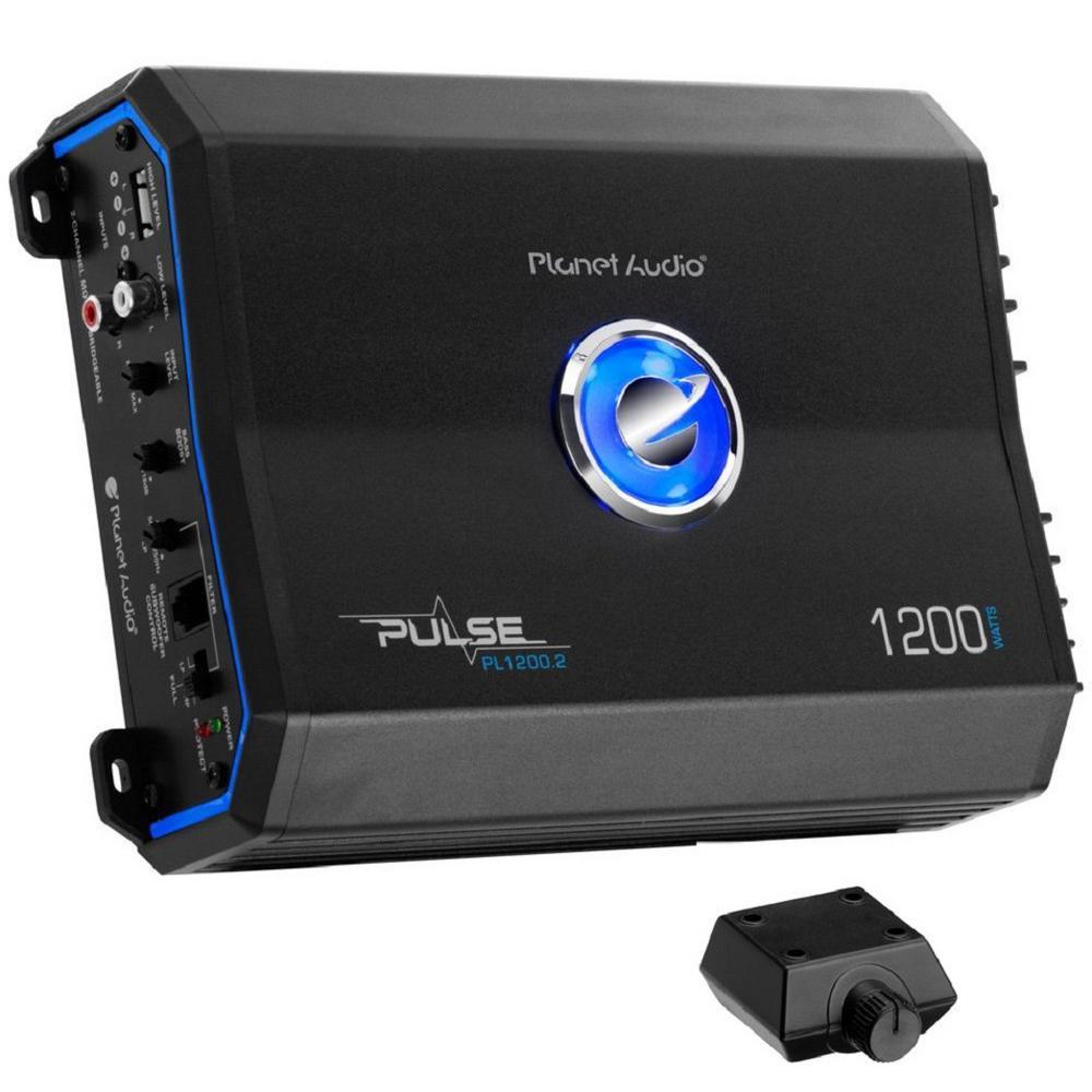 1200-Watt 2-Channel Full Range Class A/B MOSFET Amplifier (2-Pack)