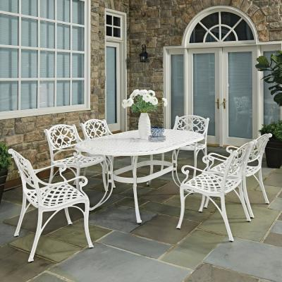 Sanibel White 7-Piece Cast Aluminum Outdoor Dining Set