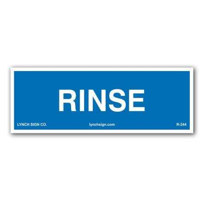 9 in. x 3 in. Rinse, Food Safety Decal