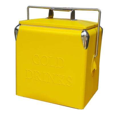 14 Qt. Portable Picnic Cooler in Yellow