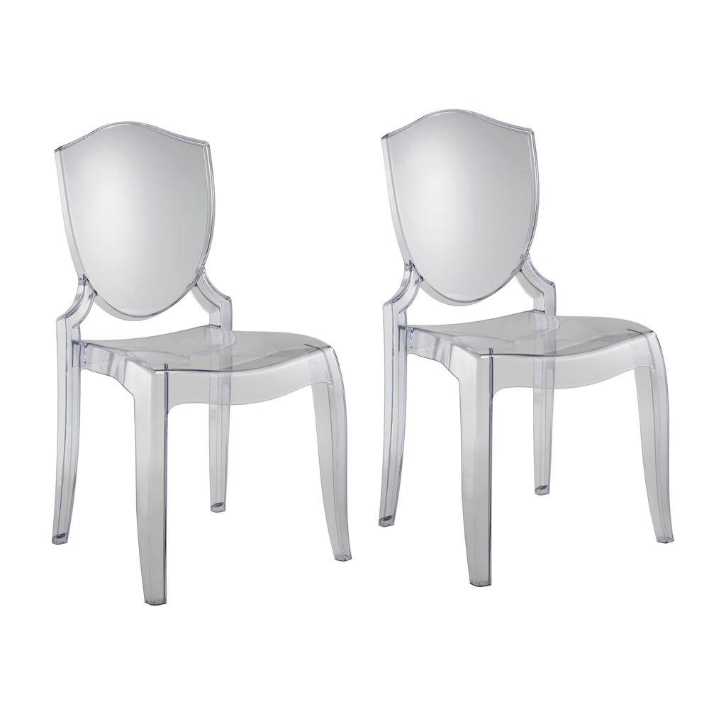 null Clear Polycarbonate Chair (2-Piece)-DISCONTINUED