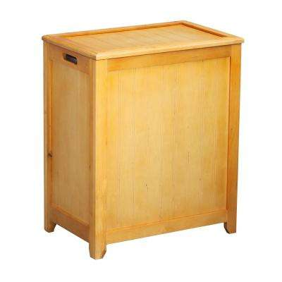 Rectangular Wood Laundry Hamper with Interior Bag