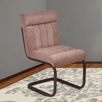 Vancouver 36 in. Brown Microfiber and Auburn Bay Finish Side Chair (Set of 2)